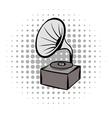 Phonograph grey comics icon vector image