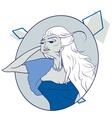 aged elegant woman vector image