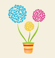 Abstract Flower In Pot vector image vector image
