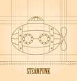 Steampunk background Submarine vector image