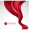 Red flying silk fabric Fashion background vector image