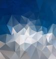 mountain gray blue abstract polygon triangular vector image vector image
