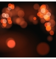 Abstract background with orange bokeh defocused vector image
