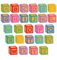alphabet english blocks vector image