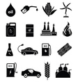 Bio fuel icons set vector image