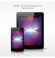Black mobile phone and tablet pc template vector image