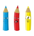 Cartoon emotional pencil set color vector image