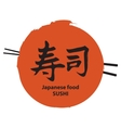 chopsticks and sushi hieroglyph vector image
