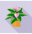 Digital green decorative orchid flower vector image