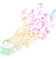floral music vector image