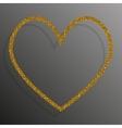 Frame Gold Sequins Heart Glitter sparkle vector image