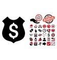 Guard Price Flat Icon with Bonus vector image