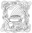 Leprechauns gold with celtic pattern vector image