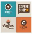 Logo coffee shop vector image