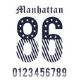 manhattan set number black white vector image