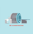 mri scanner machine technology and diagnostics vector image