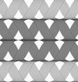 Ribbons gray shades crosses grid pattern vector image
