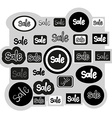 Sign sale icons set vector image