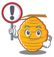 with sign bee hive character cartoon vector image