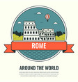 world landmarks italy travel and tourism vector image