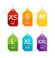 Size Clothing Labels Set vector image
