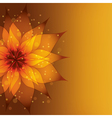 Golden background with decorative flower vector image vector image