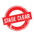 stage clear rubber stamp vector image