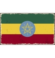 Ethiopia grunge flag vector image vector image