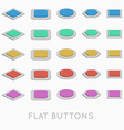 Simple Flat design buttons vector image