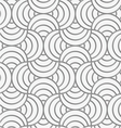 Perforated striped circle pin will vector image