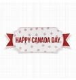 Happy Canada Day realistic Label vector image