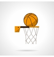 Basketball hoop flat color icon vector image