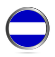 El Salvador flag button vector image