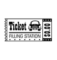 Filling station ticket icon vector image
