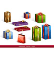 presents isolated vector image