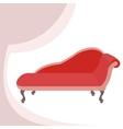 Red vintage sofa vector image