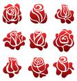Rose symbol set vector image