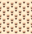 seamless pattern with coffee in a paper cup vector image