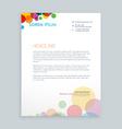 creative colorful circles letterhead design vector image