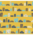 Funny houses seamless pattern vector image