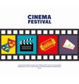 poster cinema festival strip film icons movie vector image