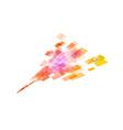 square in arrow orange vector image vector image