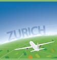 zurich flight destination vector image