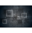 Abstract transparent glass squares on grunge vector image vector image