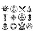 nautical icon vector image vector image