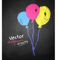 Chalk drawing of balloons vector image