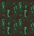 Dark Mushroom Graphic Pattern Background vector image