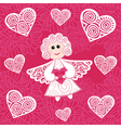 Angel hearts vector image