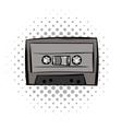 Audio cassete comics icon vector image