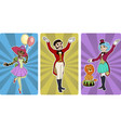 clown tamer and entertainer circus characters vector image
